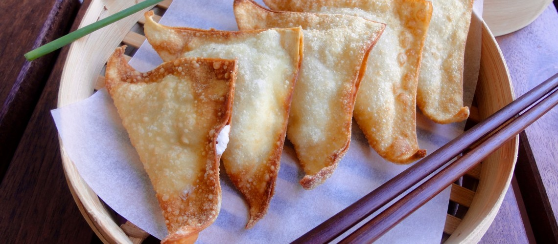 Crispy Jalape 241 O Cream Cheese Wontons Makan With Cherry