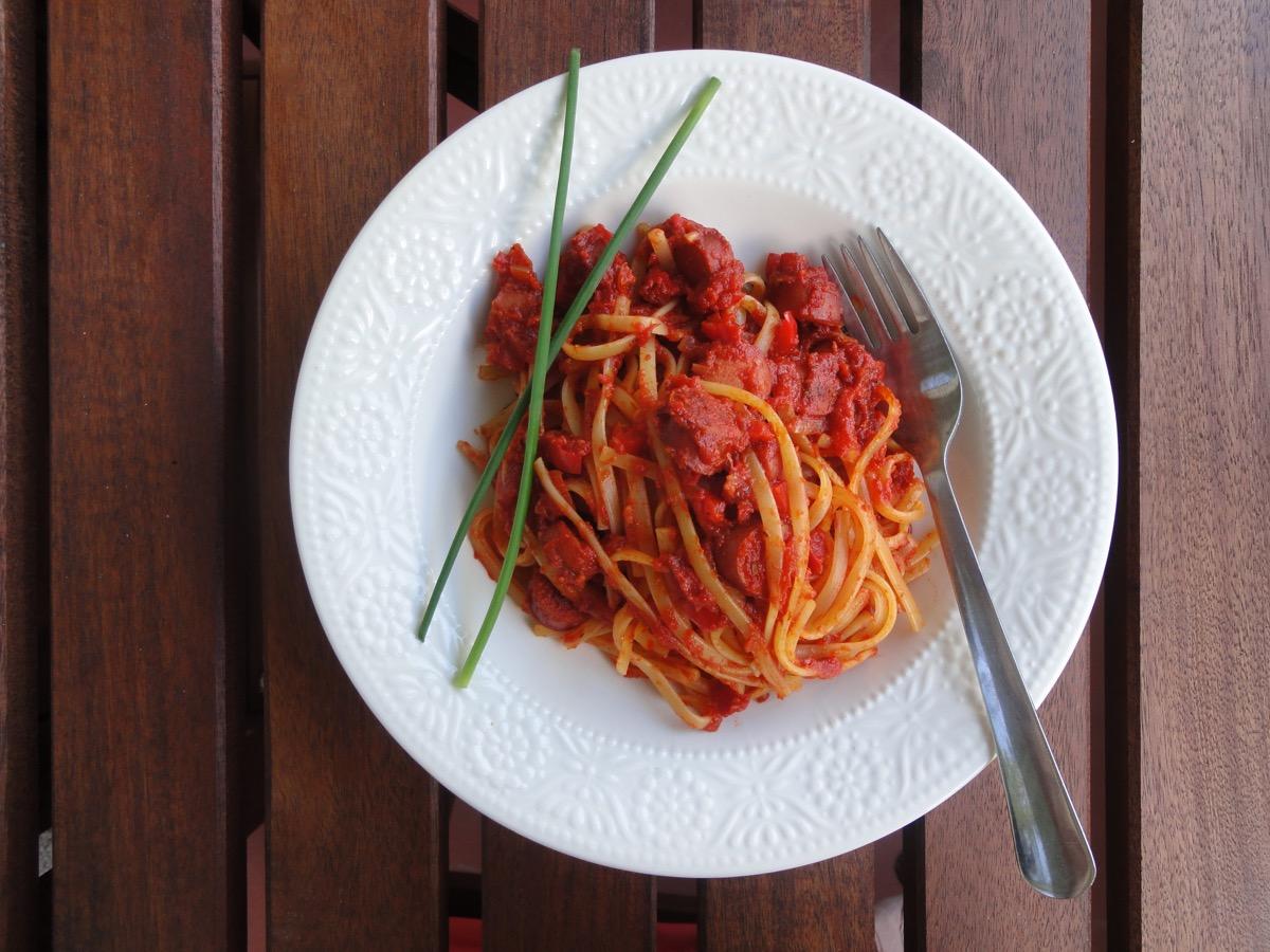 Hotdog Spaghetti