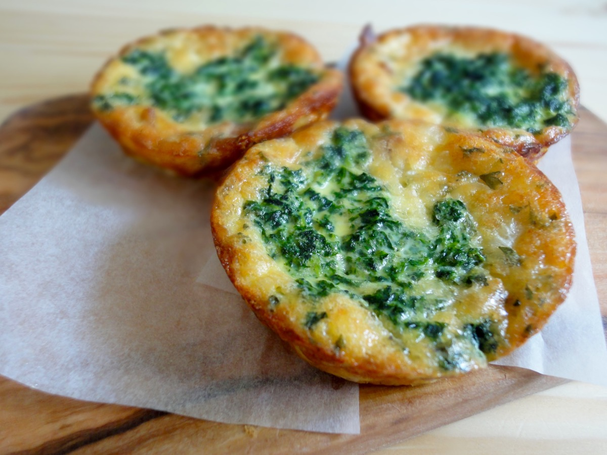Bacon & Spinach Breakfast Mini Quiche