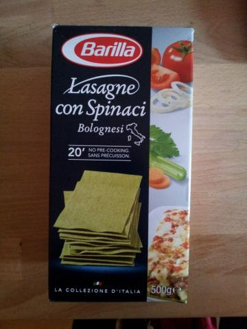 Spinach Lasagne sheets form Barilla