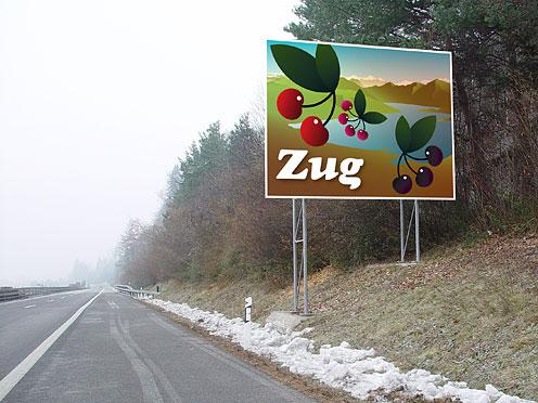 Canton Zug's Sign Board