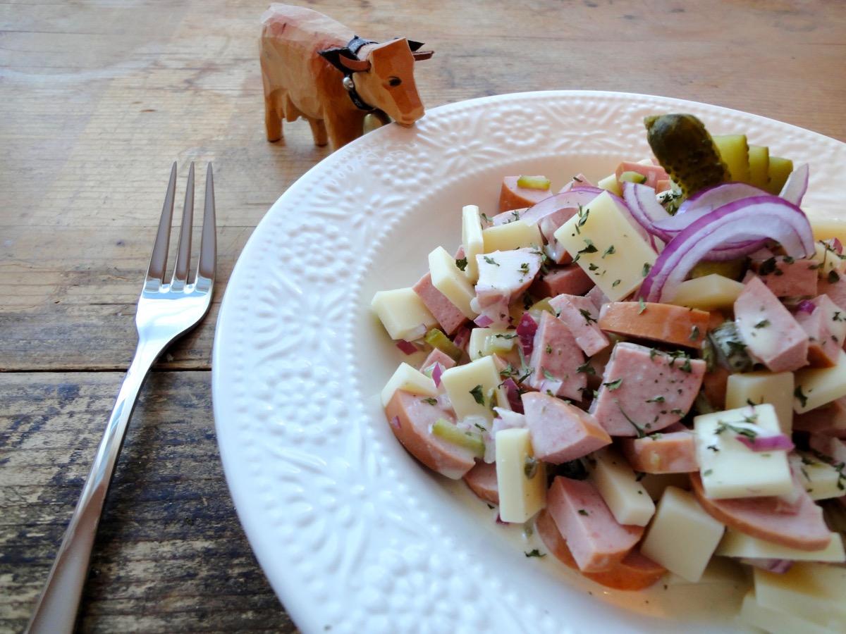 Sausage & Cheese Swiss Salad