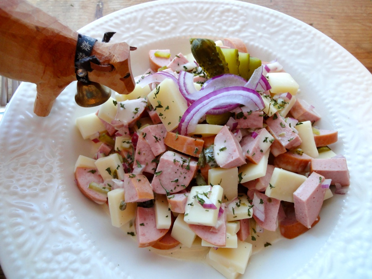Sausage and Cheese Swiss Salad