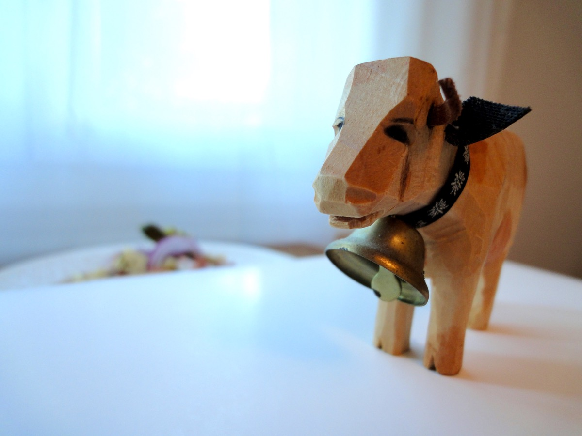 Moo the cow. I hand crafted this