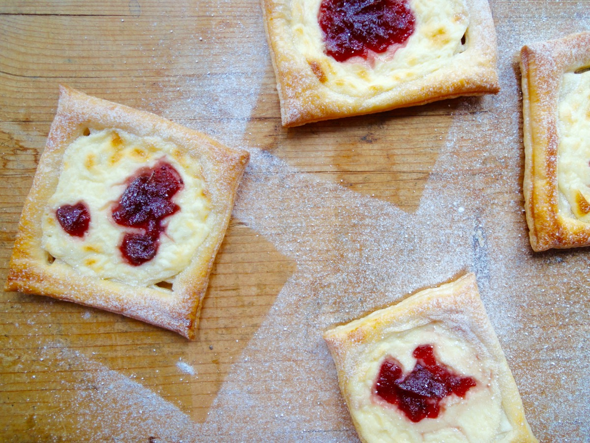 Cream Cheese & Cranberry Danish