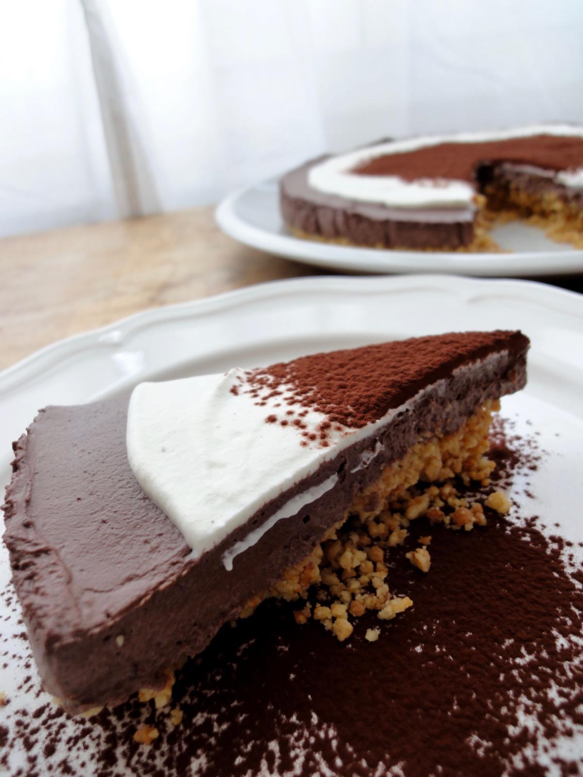Keto Chocolate Cheesecake Slice Makan With Cherry