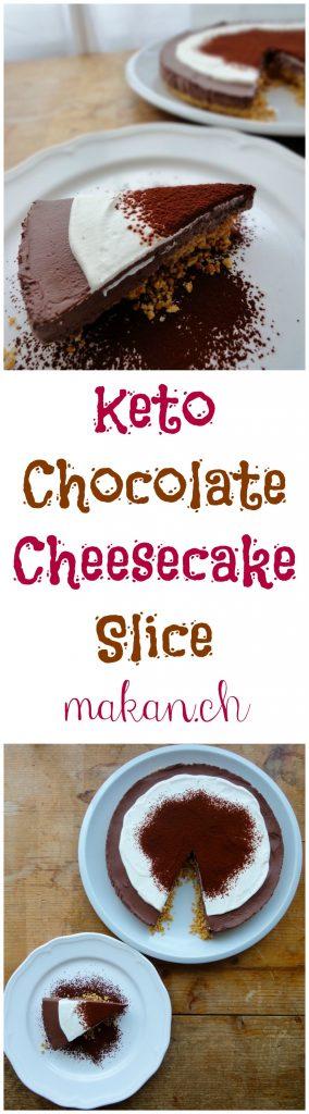 Keto Chocolate Cheesecake Slice